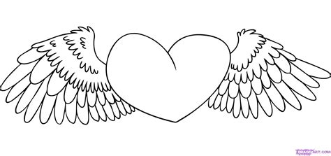 coloring pages heart with wings free printable heart coloring pages for kids