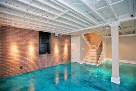 fantastic painted concrete floors and finishes scored concrete concrete basement floors