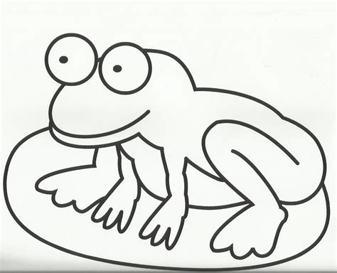 coloring page frog and lily pad frog coloring page template clipart panda free clipart