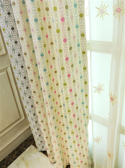 polka dot kids curtains curtain polka dots embroidery chenille thermal cute kids