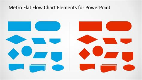 Flat Flow metro style flow chart template for powerpoint slidemodel