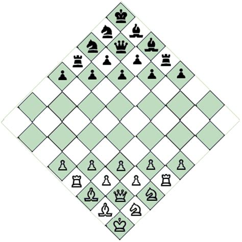 layout for chess game diagonal chess