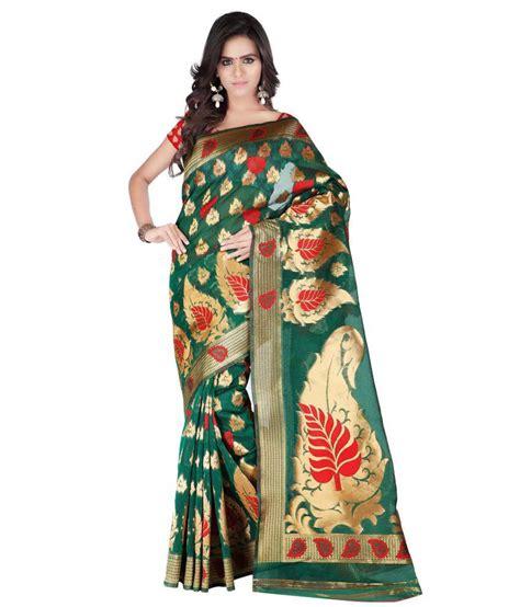 Azara Diskon azara lifestyle green silk saree buy azara lifestyle