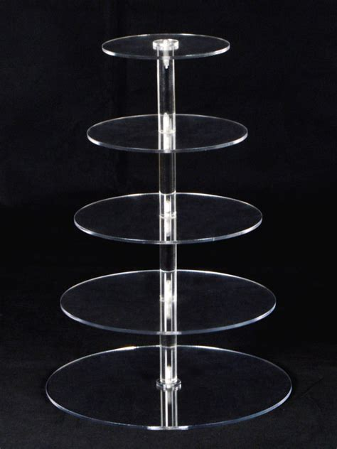 Tier Acrylic 5 tiers clear acrylic cake cupcake stand