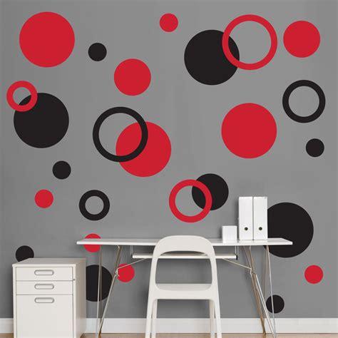 wall stickers dots black and polka dots realbig wall decal