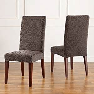 Stretch Dining Room Chair Seat Covers Uk Sure Fit Stretch Jacquard Damask Dining