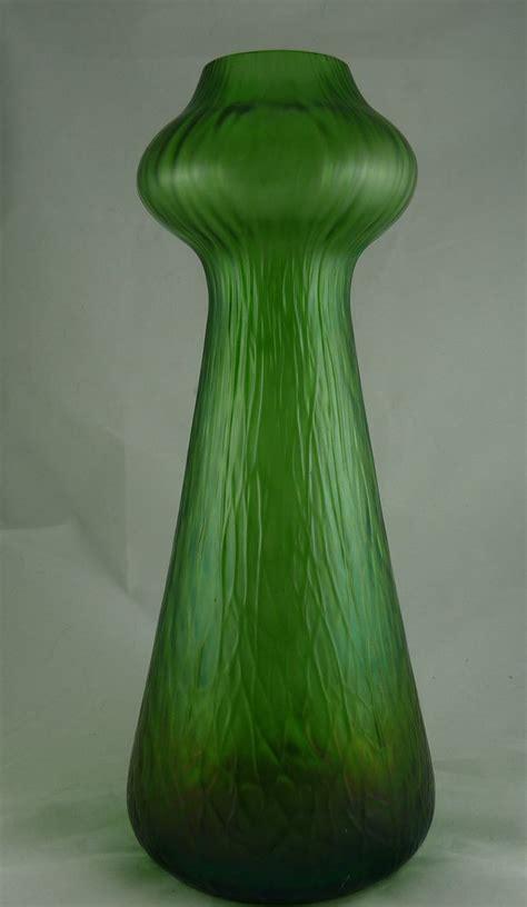 antique nouveau rindskopf green hyacinth vase from