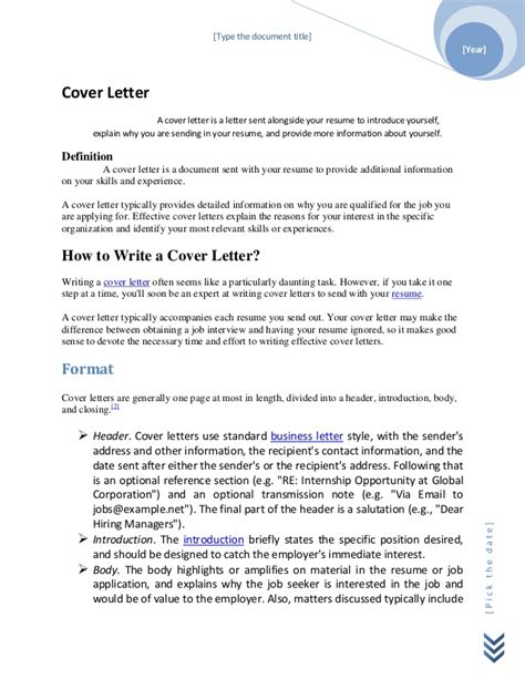 define cover letter what is a cover letter