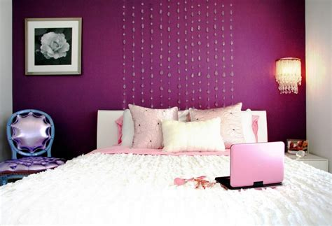 decoration ideas creative purple wall painting bedroom