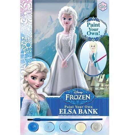 Disney Frozen Coin Bank disney frozen paint your own elsa coin bank with 5 paints