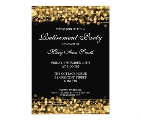 retirement template free free printable retirement invitations badbrya