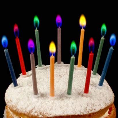 color candles colour birthday cake candles