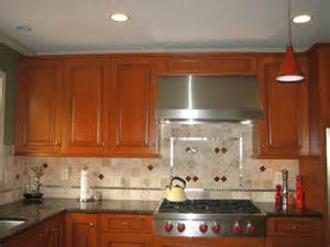 Kitchen Cabinets Backsplash Kitchen Backsplash Ideas With Cherry Cabinets Cabin