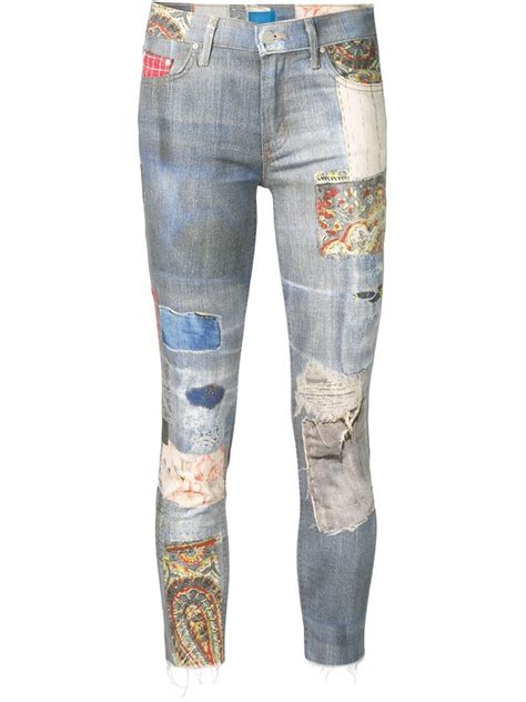 Patchwork Denim - patchwork in blue lyst