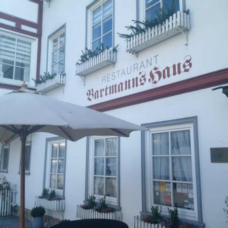 bartmanns haus dillenburg bartmann s haus restaurant untertor 1 3 in