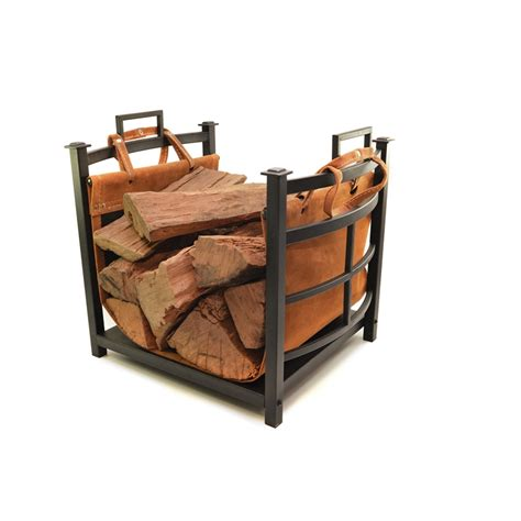 Fireplace Log Tote by D 233 Cofire Black Mission Log Holder With Log Tote Bunnings