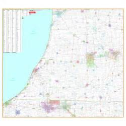 southeast zip code map michigan southeast vicinity wall map keith map service inc
