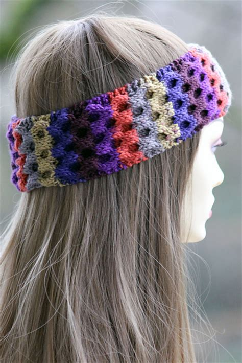 yarn headband pattern knitting patterns galore honeycomb headband