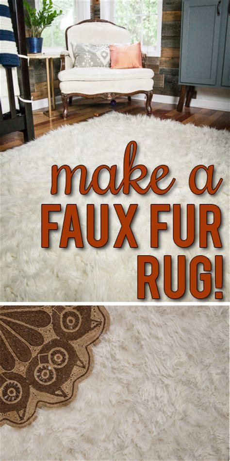 Diy Faux Fur Rug by How To Make A Diy Faux Fur Rug View Along The Way