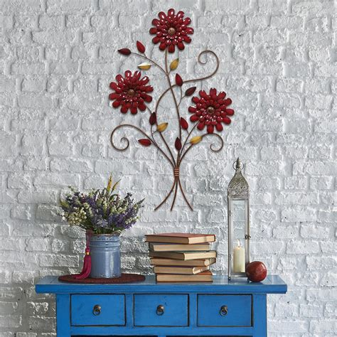 home decor home depot stratton home decor stratton home decor red floral bouquet wall decor s01880 the home depot