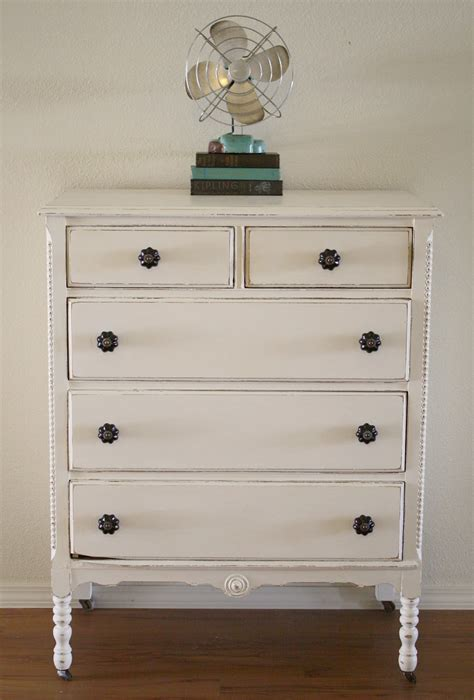 chalk paint shabby white dresser with chalk paint