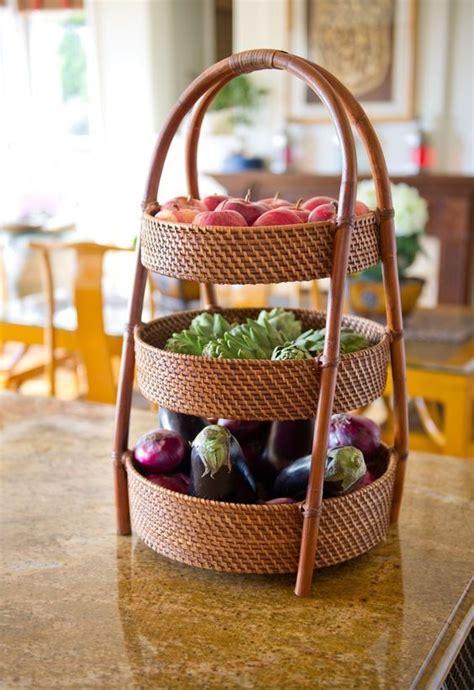3 vegetables in kitchen counter fruit vegetable basket organizer storage