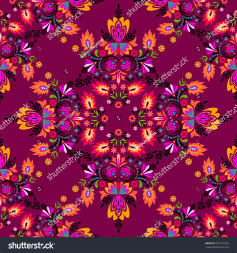 a floral pattern in spanish seamless vector spanish latin folk pattern red spicy
