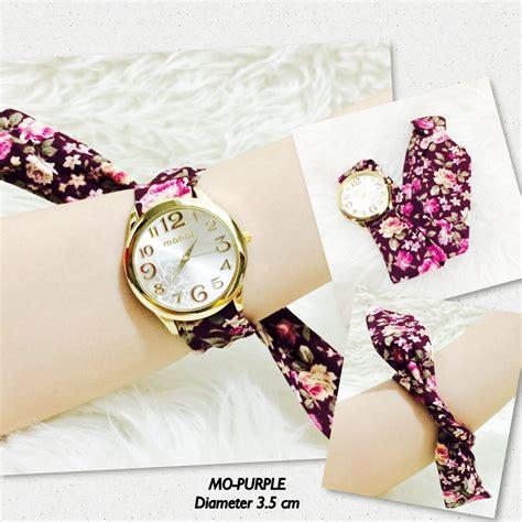 Jam Tangan Bonia Floral jual jam tangan kain bandana monol guess geneva batik bunga floral murah nyxshopjakarta