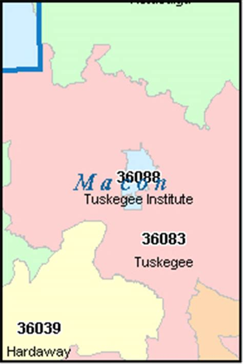 macon zip code map macon county alabama digital zip code map