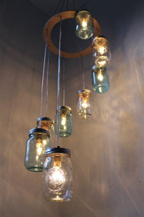 Handcrafted Chandeliers - waterfall spiral jar chandelier handcrafted by bootsngus