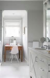 Makeup Vanity Window Gray Bathroom Nook With Freestanding Make Up Vanity