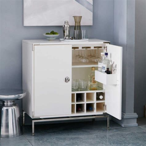 modern white bar cabinet black and white inlaid drinks cabinet mad about the house