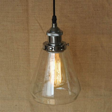 Clear Glass Pendant Lights For Kitchen Loft Industrial Hanging Clear Glass Shade Pendant L With Edison Light Bulb Kitchen Lights And