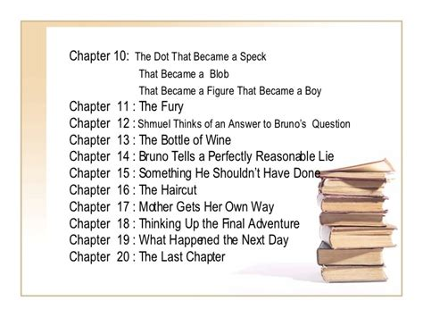 Ten Day Mba Chapters by Summary The Boy In The Striped Pyjamas