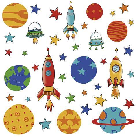 Deko Sticker Weltraum by 39 Wandsticker Wandtattoo Planeten Raketen Weltall