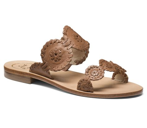 rogers shoes rogers sandal in beige cognac lyst