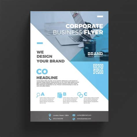 business flyer templates psd blue corporate business flyer template psd file free