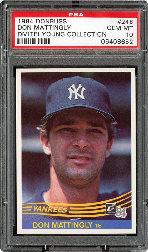 Don Mattingly Card Value by 1984 Donruss Baseball Cards Psa Smr Price Guide