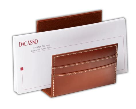 a3208 rustic brown leather letter holder