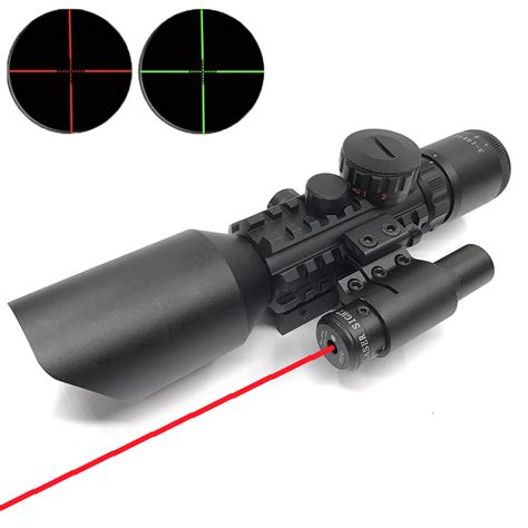 Scope M9 With Laser new tactical 3 10x42e m9 adjustable magnifier telescope sight scope laser sight