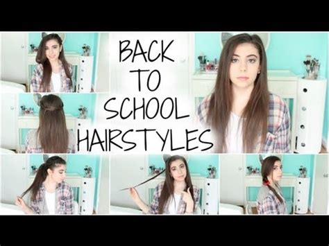 quick and easy hairstyles rclbeauty101 download 5 back to school hairstyles easy quick unique