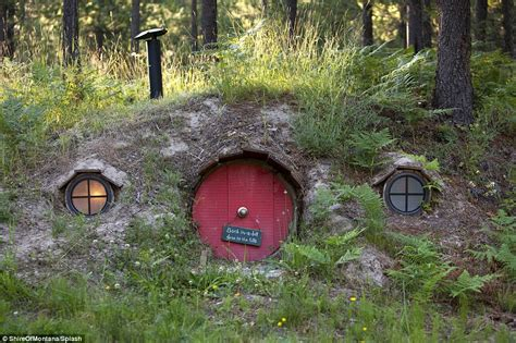 hobbit house plans for sale hobbit fans flock to montana guest house to live like