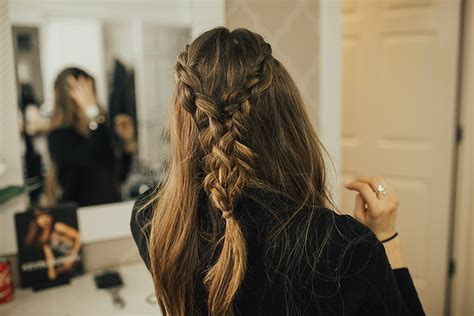 tie back hairstyles tie back hair styles angel wings fishtail braid tie back