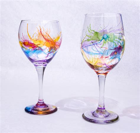 wine glass painting art self expressions