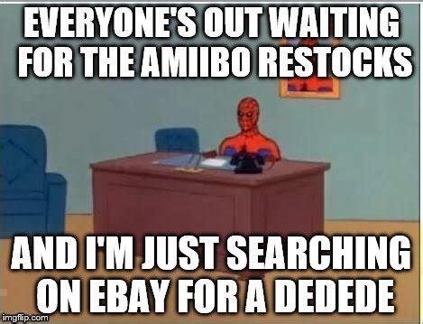Spiderman Computer Meme - amiibo spiderman imgflip
