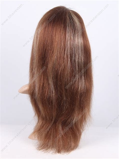 hightlight in stip of front glueless wig with adjust strip stock highlight glueless