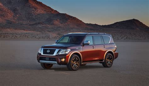 nissan armada 2017 2017 nissan armada swaps from truck basis to bomb proof