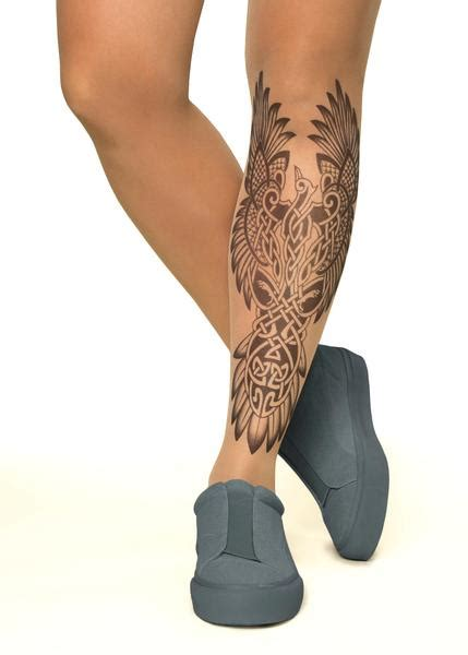 tights tattoo designs celtic printed tights