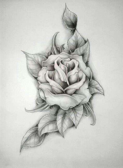 scarlett rose tattoo single sketch drawing designs