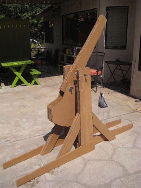 How To Make A Paper Trebuchet - cardboard